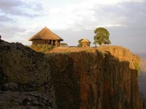 Mequat Mariam, perched on the edge of the Meket Escarpment