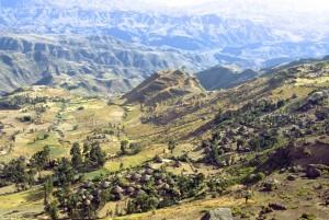 Villages below the Meket Escarpment