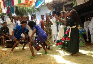 Sora dancing at Lalibela wedding