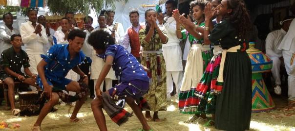 Sora dancing at Lalibela wedding