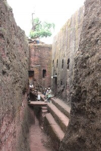 Entrance to Mikael & Golgotta in Lalibela