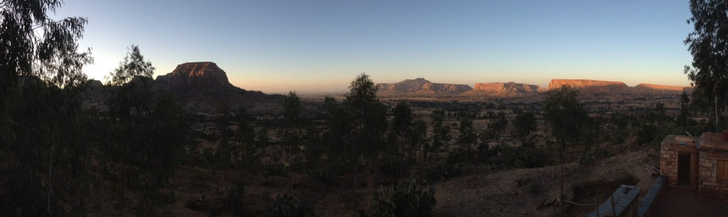 Panoramic View from Gohgot guesthouse at sunrise