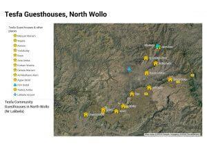 Guesthouses on the tesfa trek near Lalibela