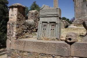 Ancient stones in the Church compound in Axum