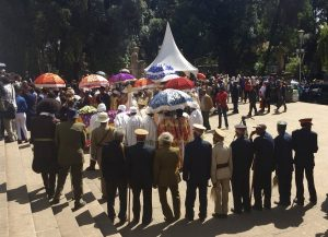 Richard Pankhurst's funeral, Selassie church, Addis Ababa