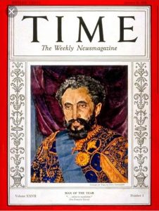 "Haile Selassie ""Man of the Year"""