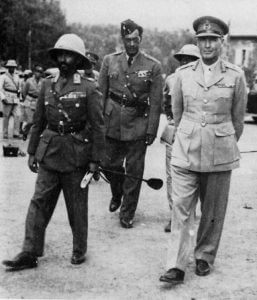 Haile Selassie's return to Addis with Col. Wingate